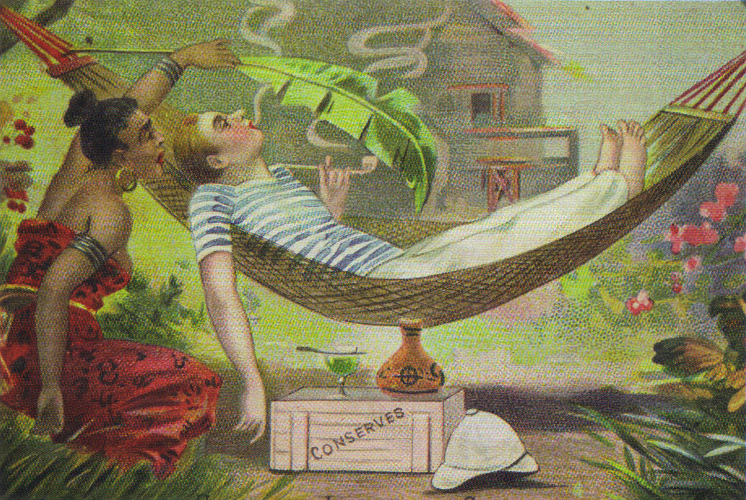 Carte postale humoristique 1900