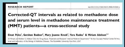 Méthadone et QT long (5)