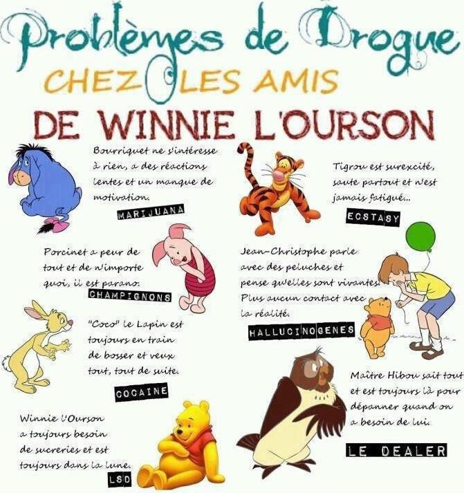 Les problèmes de drogues chez Winnie l'Ourson