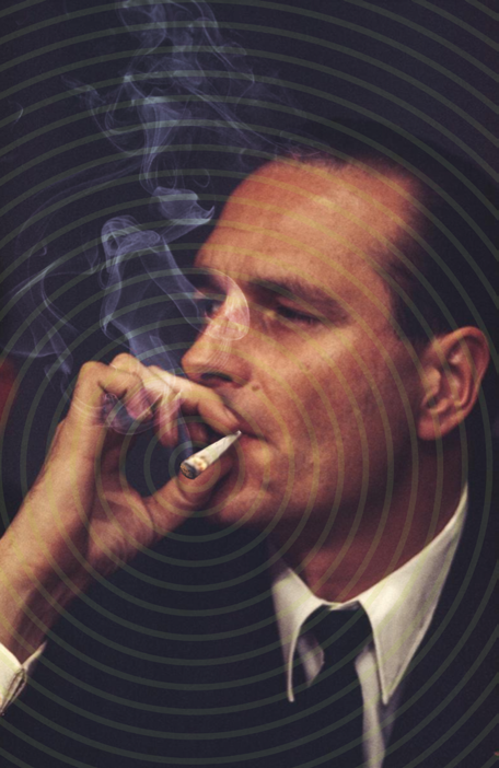 """Chirac fumant un joint"" © photoshop :)"