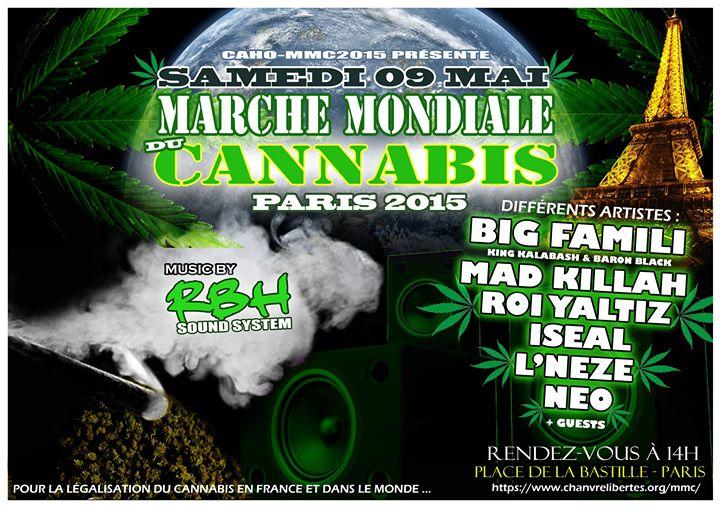 Marche mondiale cannabis paris 9 mai 2015